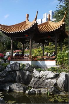 Twin Pavilion at Chinese Garden of Friendship, Sydney