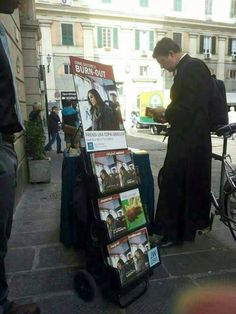 Even the priests can't resist!!