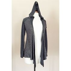 PRESS Gray Open front cardigan, Hoodie S/P EUC silver sequins cover the front. EXCELLENT Pre-owned Condition! Press Sweaters Cardigans