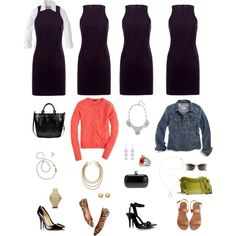 """One Key Wardrobe Piece Styled Four Ways # 12"" by aggregatefloss on Polyvore"