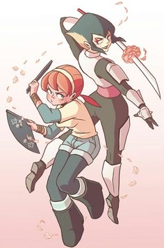 Karai and April from tmnt