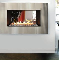 Living Room: For a modern fireplace like Christian's, try this Modern Fireplace from Spark Fires.