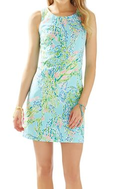Lilly Pulitzer Cathy Shift Dress in Skye Blue Blue Heaven- perfect summer vacation look