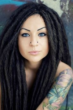 """I miss when my dreads were """"young"""" and fluffy like this. So many people want theirs to get get tight and lock faster, but I loved the volume of mind the first 3-4 years. It's funny, because these are extensions on this girl. Maybe I just need to add extensions to mine. Im such a jerk- like """"poor me, my hair just locks so easily that I hate it"""" hahaha!"""