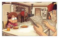 GS: Alright who wants pancakes!!  Dipper: Not today, Great Uncle Ford's cooking something!  Mabel: It's ok, Grunkle Stan, I'll eat them