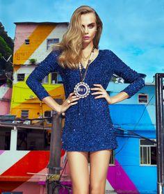 Vogue Brazil's pictures of model Cara Delevigne in Favela Santa Marta.