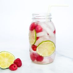 Refreshing Infused Water with Raspberry and Lime
