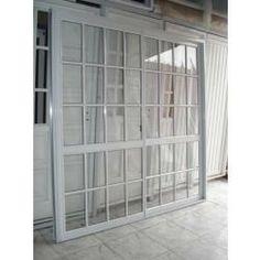 Puerta corrediza de aluminio blanco ventanas y puertas for Puertas balcon de aluminio precios en rosario