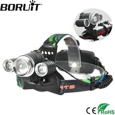 Boruit 3000LM T6 XPE LED Headlamp 4-Mode Zoom Headlight Rechargeable Head Torch Bike Lights Camping Hunting Frontal Lantern #Affiliate