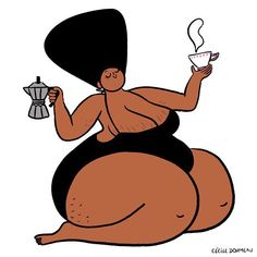 On Sundays, we lay about, drink all day & read Roundtable 🦋 have you ordered your issue yet? Link in bio ✨ illustration via Black Girl Art, Art Girl, Art Sketches, Art Drawings, Illustrator, Plus Size Art, Fat Art, Hippie Art, Art Sketchbook