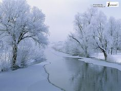 Natural Landscape Photo River in Winter White Trees Alongside | Flickr - Photo Sharing!