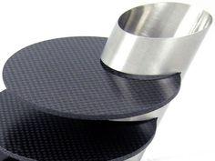Carbon Fiber Coaster Set