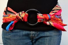 DIY belt with a scarf and a circle                                                                                                                                                      More