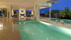 Elegant Interior of the Out of the Blue - beautiful swimming pool
