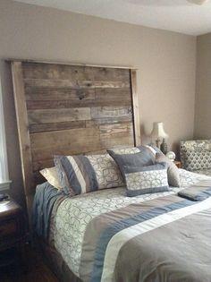 Tête de lit rustique en palette