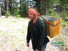 Tumpline by Jack Mountain Bushcraft School, via Flickr. Another modern example of carrying packs using the tumpline.
