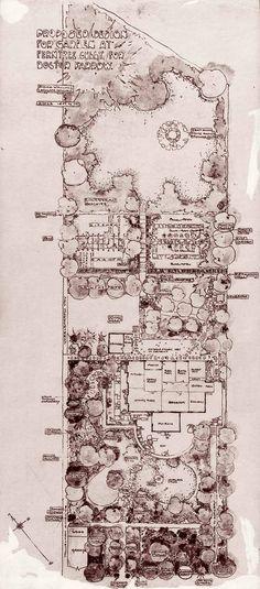 "Edna walling Plan of Proposed Design for Garden for Doctor Farrow, ""Oak Hill"", Ferntree Gully"