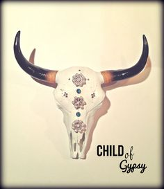 Marie Antoinette,  Cow Skull, Steer Head and Horns on Etsy, $225.00