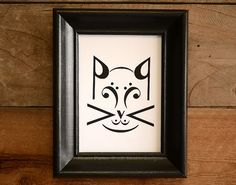 CAT music note art print by Erin Heaton, available in 5x7, 8x10, or 11x14