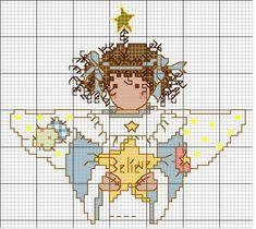 Schema punto croce Angioletto