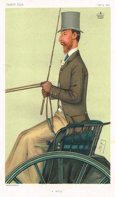 "Vanity Fair (SPY) Print - """"A WHIP"""" - Lord Londesborough - Chromolithograph - 1895"