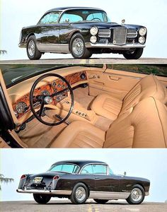 Ride On — frenchcurious: Facel Vega - source Rétro. Car Interior Design, Auto Design, Classic Car Garage, Classy Cars, Vegas, Car Makes, Car In The World, Car Ins, Old Cars