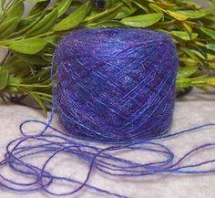 PURPLE CASCADE Yarn Shimmery Dainty Lace by RecycleandRepurpose, $1.80