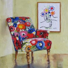 I wd. love a calendar with a dozen of Applegate's chair & paintings series