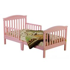 Dream On Me Mission Collection Style Toddler Bed in Pink - - Toddler Beds - Nursery Furniture - Baby & Kids' Furniture - Furniture