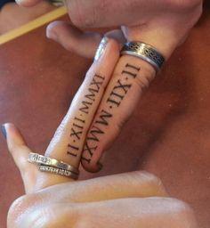 15 wedding date on ring finger
