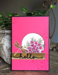 Stampin Up, SU, Awesomely Artistic, Hello thinlits
