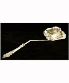 "Antique Silver LADLE -- STERLING & Sheffield Silver English 14"" Punch LADLE"