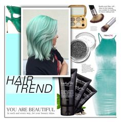 """""""Newchic - Matchy-Matchy Hair"""" by dora04 ❤ liked on Polyvore featuring beauty, Oh My Love, Aquazzura, hairtrend and rainbowhair"""
