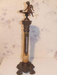 Antik Thermometer Putto Historismus Frankreich um 1870 ca 52 cm höch