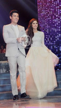 This is Xian Lim and Kim Chiu all dressed up and walking on the ASAP stage during the Star Magic Parade of Stars during ASAP 18 last 2013. Kim and Xian are amazing talents of Star Magic since they all rose to fame through ABS-CBN and Star Magic. #KimChiu #ChinitaPrincess #XianLim #KimXi #ASAP18 #starmagic21stanniversary