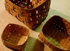 baskets made from brown paper bags... one of many great ideas