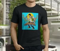 033eaacae3 New Popular EL BORRACHO La Loteria Funny Humor Men's Black T-Shirt Size S-