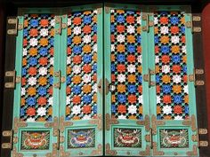 Korean Temple Doors
