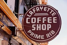 Lafayette Coffee Shop Sign San Francisco Wall Art Neon Sign | Retro Kitchen Decor