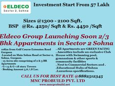 8882512345, Soft Launch Project By Eldeco Group  in Sector 2 of  Sohna , Gurgaon by Mnc Propmart via slideshare