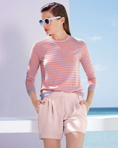 FEB '14 Style Guide: J.Crew cashmere featherweight sweater and the Cutler and Gross® 0737 sunglasses.
