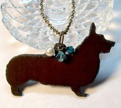 Rustic Corgi Necklace OR Mirror Charm