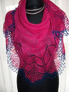 Bird cherry pattern by Natalia Sha Knitted Shawls, Crochet Scarves, Knit Crochet, Lace Patterns, Knitting Patterns, Woven Scarves, Lace Knitting, Shawls And Wraps, Tour