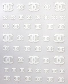 Buy 2 get 1 Free White C designer Nail sticker. by tigerlilies, $2.99