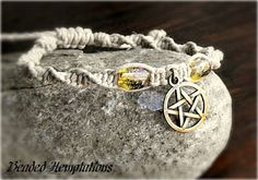 Wicca/Pagan Hemp Spiral Weave Pentacle by BeadedHemptations, $9.99