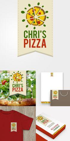 Brand identity Chri's Pizza Logo by giorgia negro, via Behance