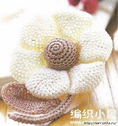 Цветы крючком. Схемы (1) (434x466, 145Kb)