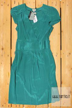 Tarita S/S 2013.   Hoss Intropia, turquoise silk dress.