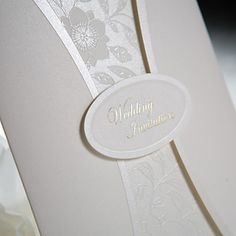 Gorgeous White Gate-Fold Classic Embossed Vertical Wedding Invitations, 100 pcs/lot