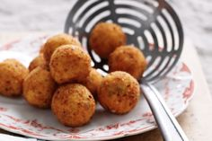 Go beyond schnitzels and get creative with breadcrumbs by adding them to these light arancini balls.